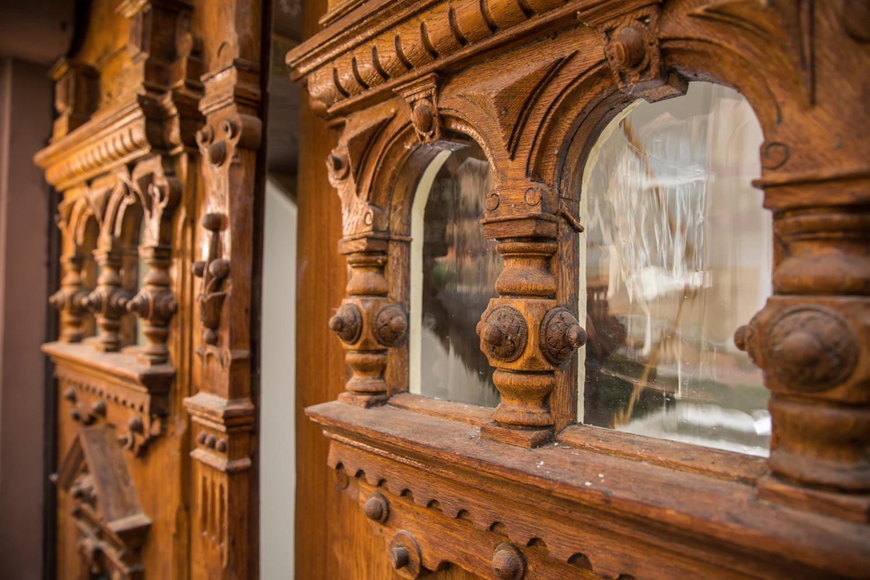 Detail des Portals der Villa Viktoria, Referenzobjekt von Wohnwert Immobilien